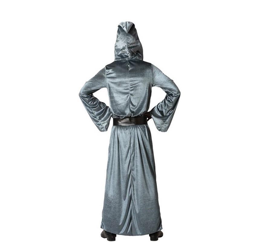 Disfraz de Hechicero Plateado con capucha para hombre-B