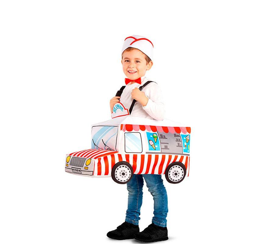 Disfraz de Heladera con caravana para niños-B