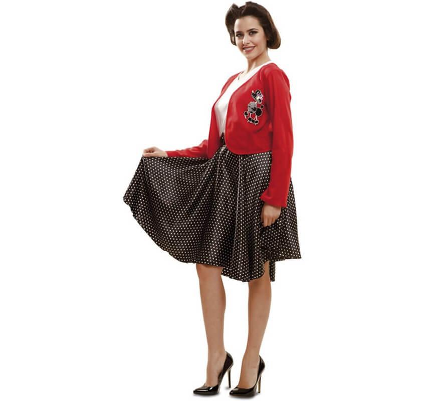 Disfraz de High School o de los Años 50 para mujer-B