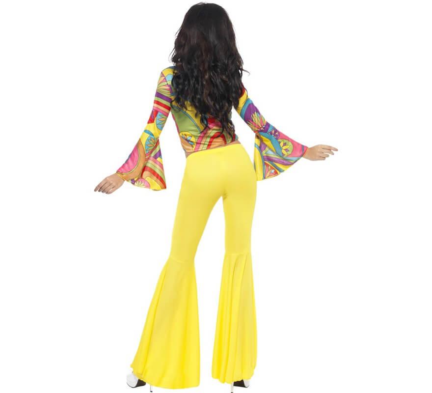 Disfraz de Hippie Guay de los 70 para mujer-B