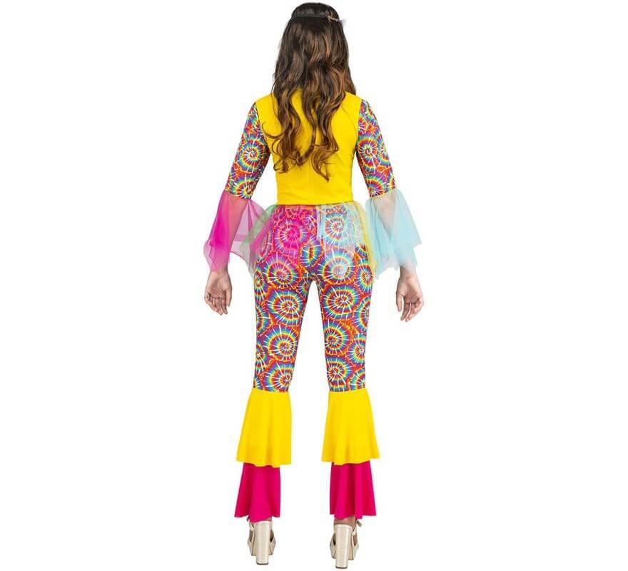 Disfraz de Hippie Multicolor para mujer-B
