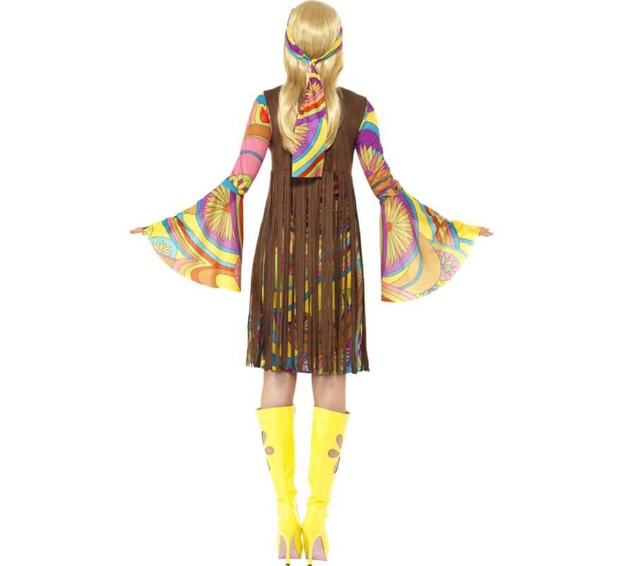Disfraz de Hippy Fabulosa para Mujer-B