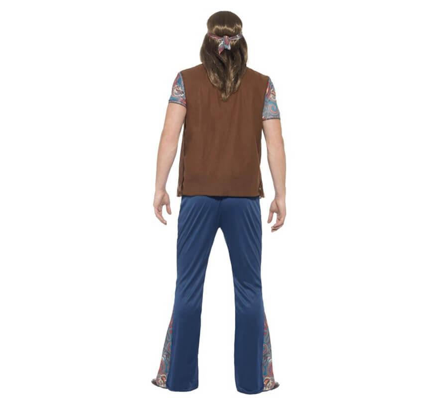 Disfraz de Hippy Multicolor para hombre-B