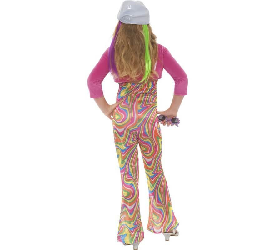 Disfraz de Hippy Multicolor para Niña-B