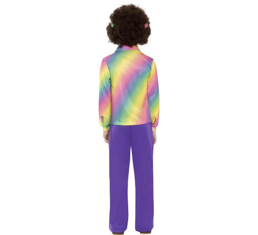 Disfraz de Hippy Multicolor para Niño-B