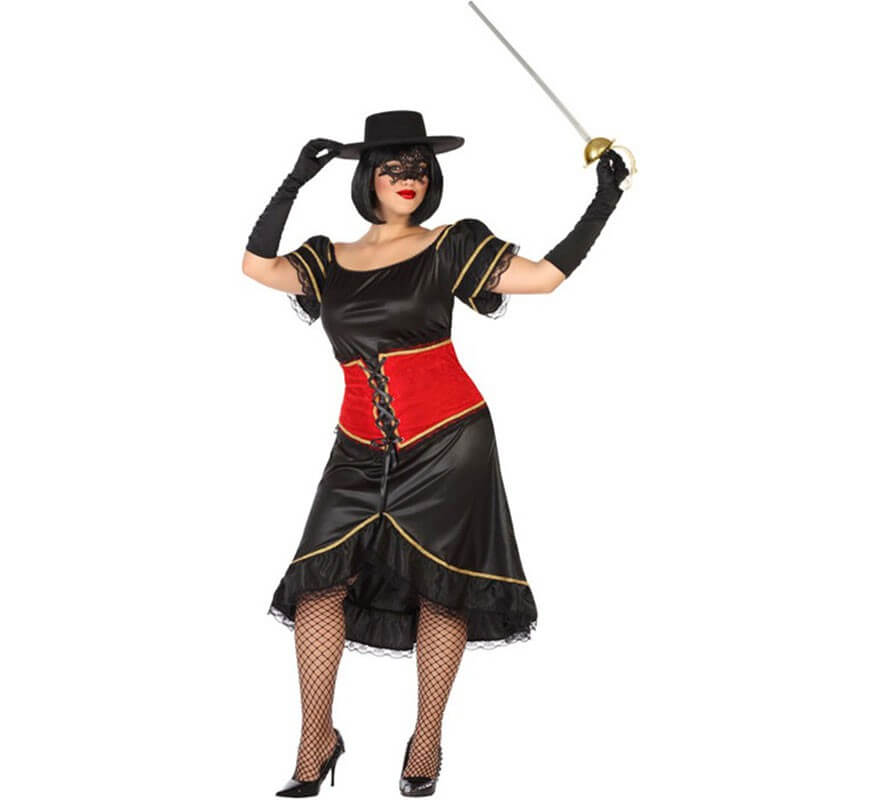 Disfraz de Bandido Enmascarado para mujer-B