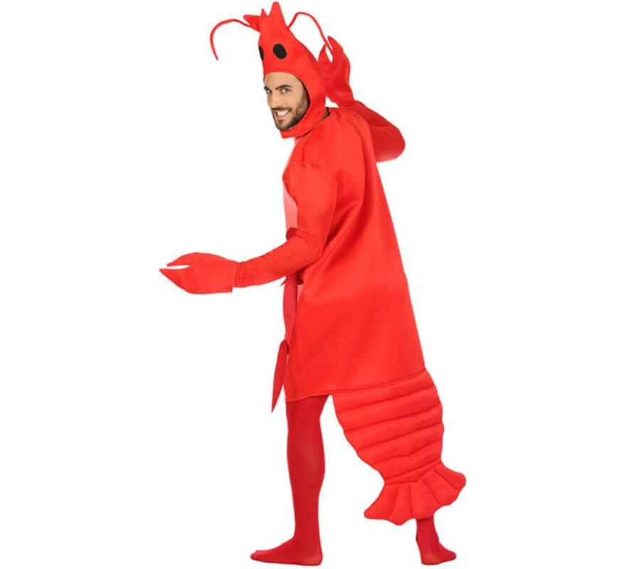 Disfraz de Gamba roja para hombre-B