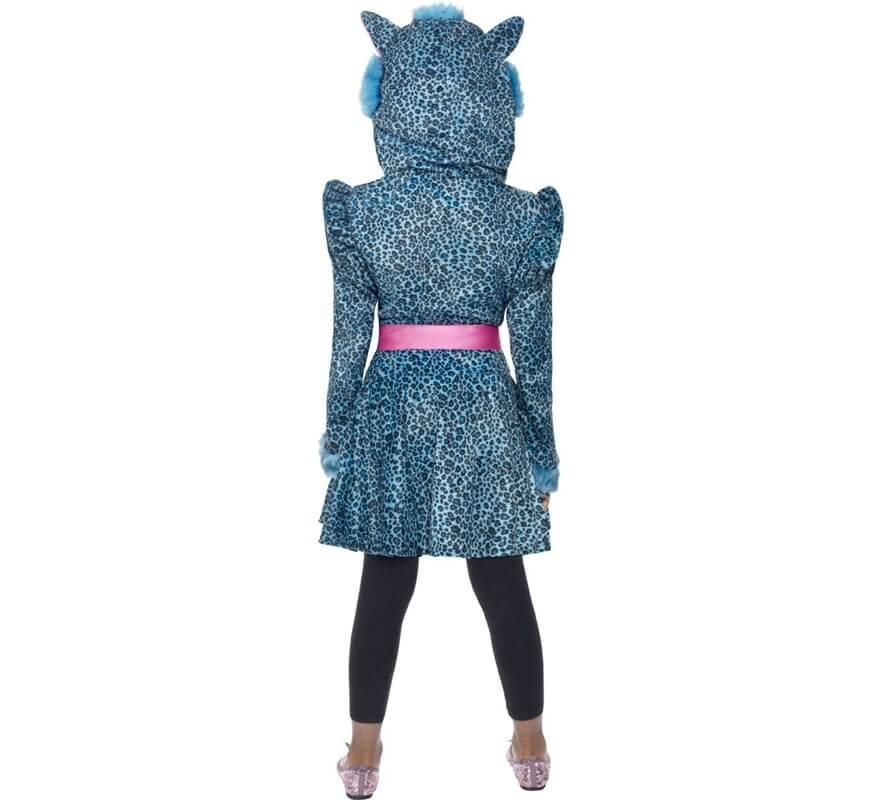 Disfraz de Leopardo Azul para Niña-B
