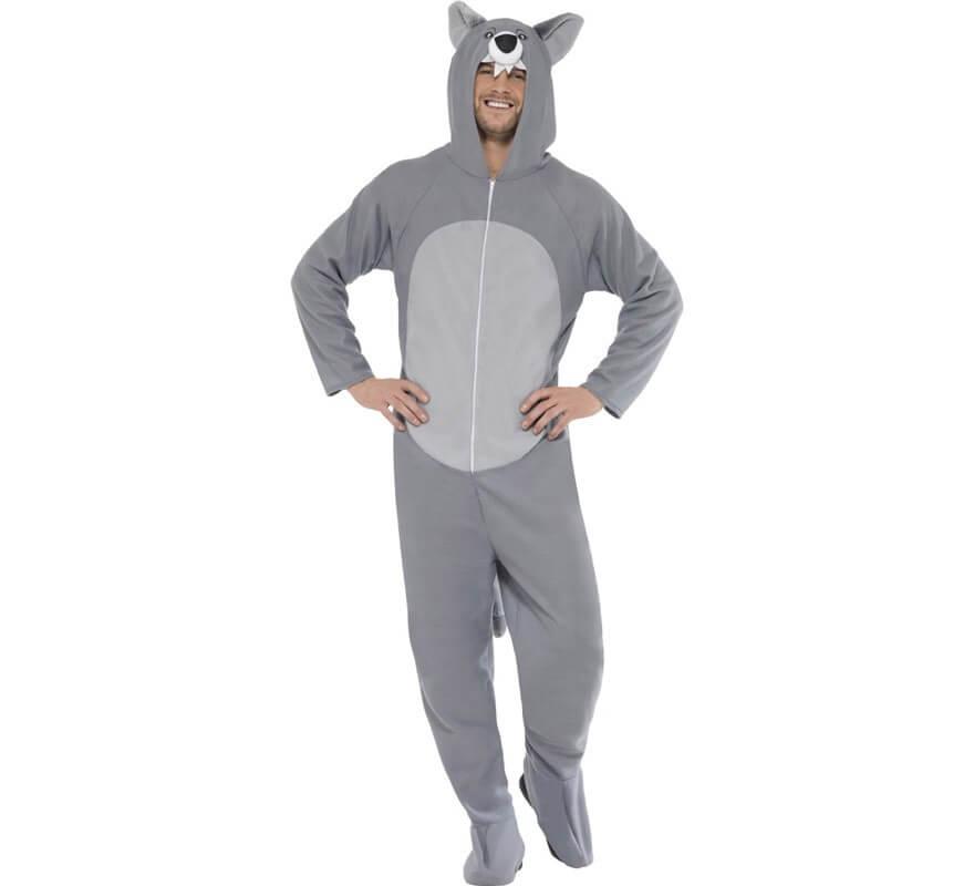 Disfraz de Lobo gris para adulto-B
