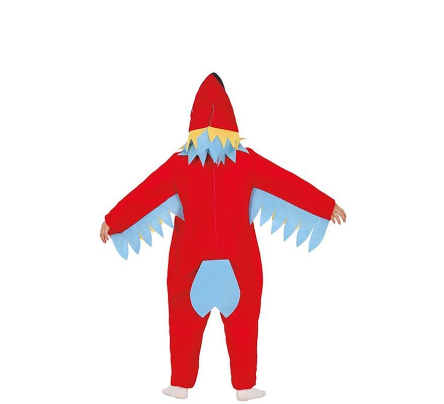 Disfraz de Loro Rojo para niño-B