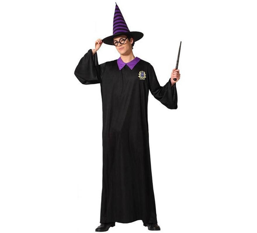 Disfraz de Mago con Túnica negra para adultos-B