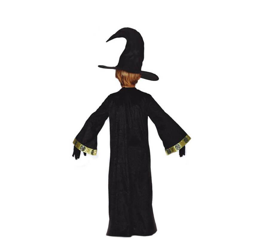 Disfraz de Mago Negro y verde para niños-B