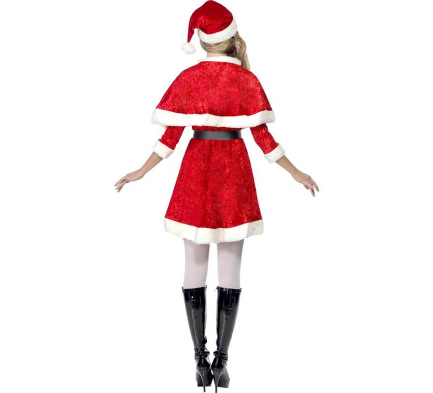 Disfraz de Mamá Noel de Terciopelo para mujer-B