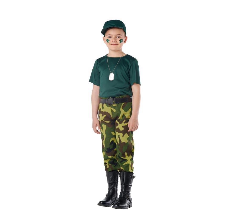 Disfraz de Militar Camuflaje para Niños-B