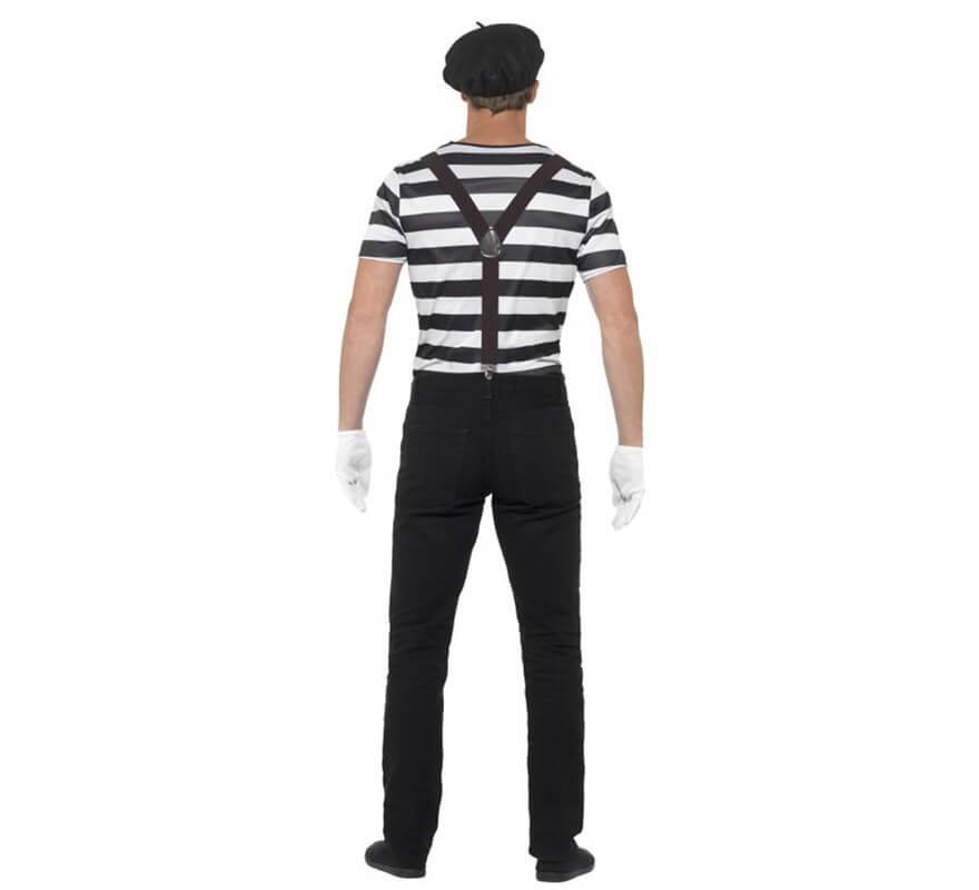 Disfraz de Mimo blanco y negro para hombre-B