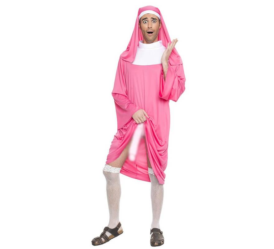 Disfraz de Monja Rosa para hombre-B