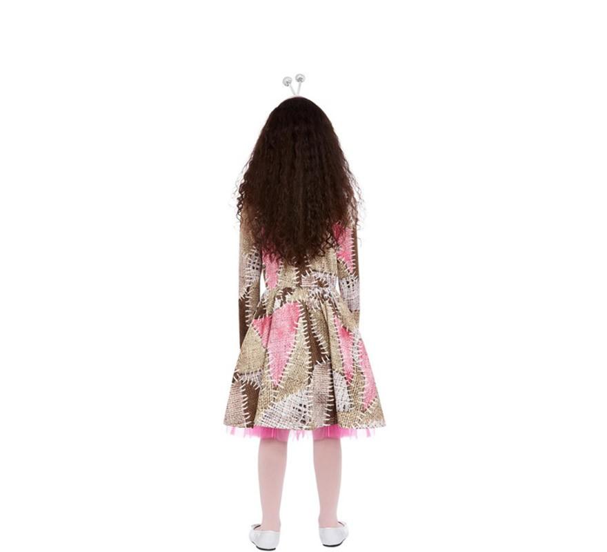 Disfraz de Muñeca Vudú marrón y rosa para niña-B