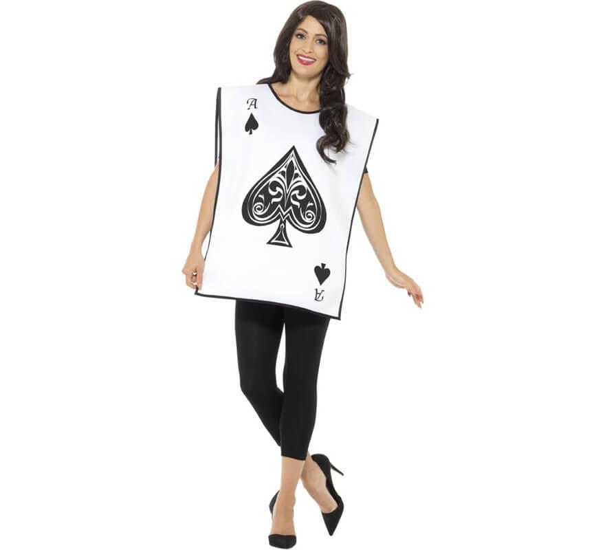 Disfraz de Naipe Blanco para adultos-B