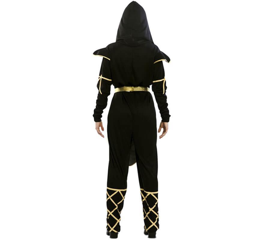 Disfraz de Ninja Negro y Dorado para mujer-B