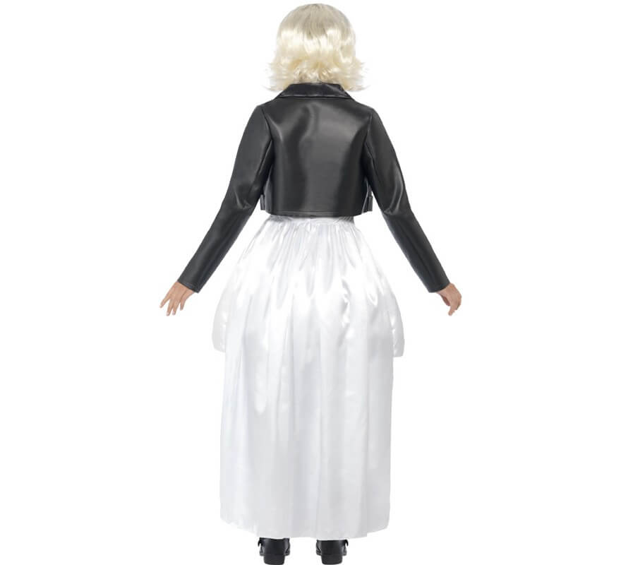 Disfraz de Novia de Chucky Blanco para mujer-B