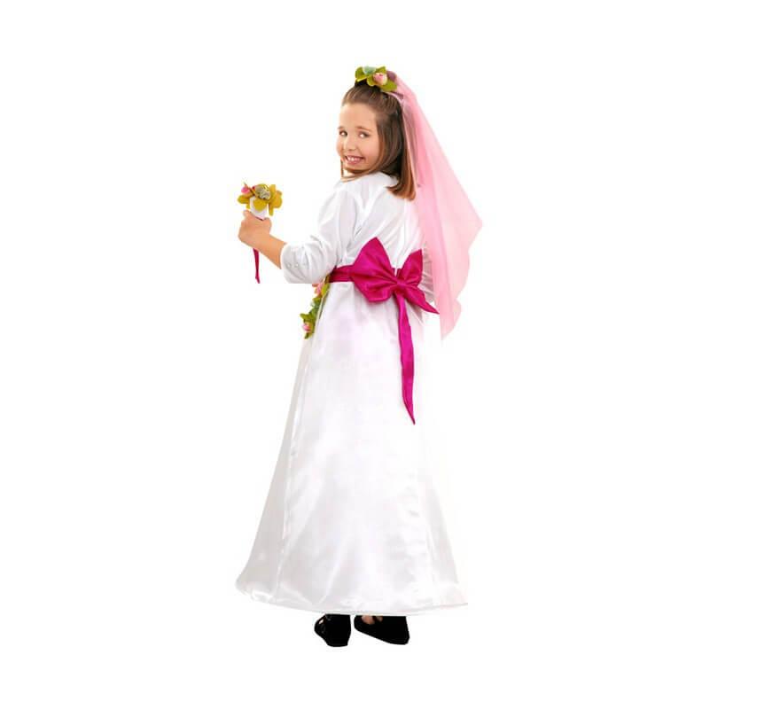 Disfraz de Novia para niñas de 3 a 4 años-B