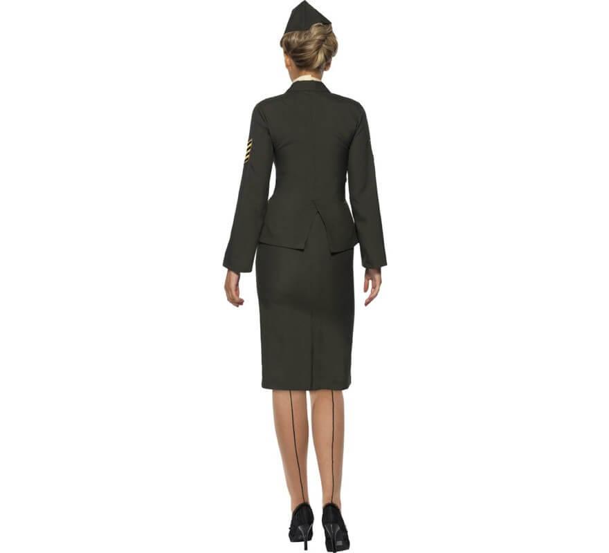 Disfraz de Oficial en Tiempos de Guerra para Mujer-B