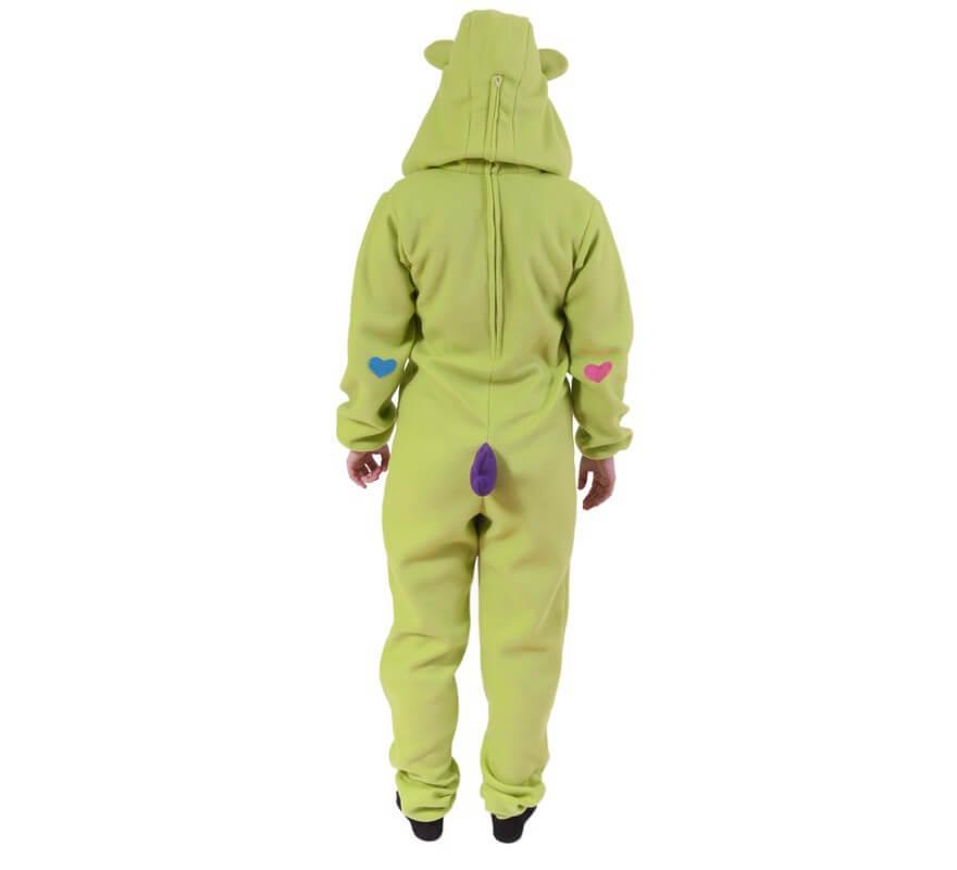 Disfraz de Oso Cariñoso Verde Pistacho para adultos-B