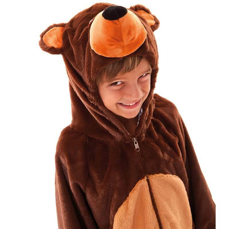 Disfraz de Oso Marrón para niños y bebé-B