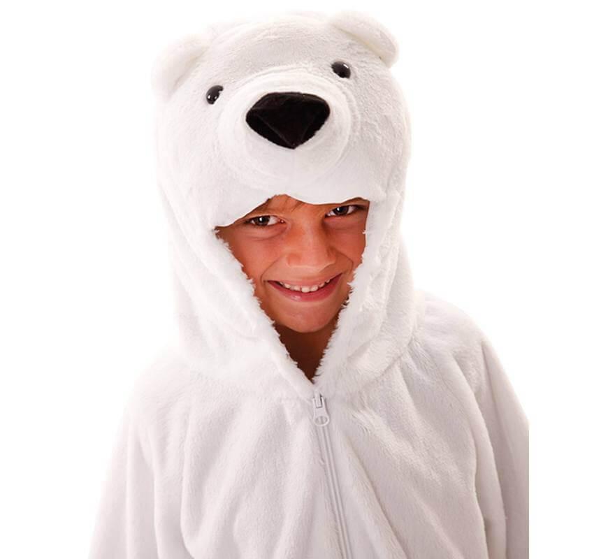 Disfraz de Oso Polar para niños y bebé-B