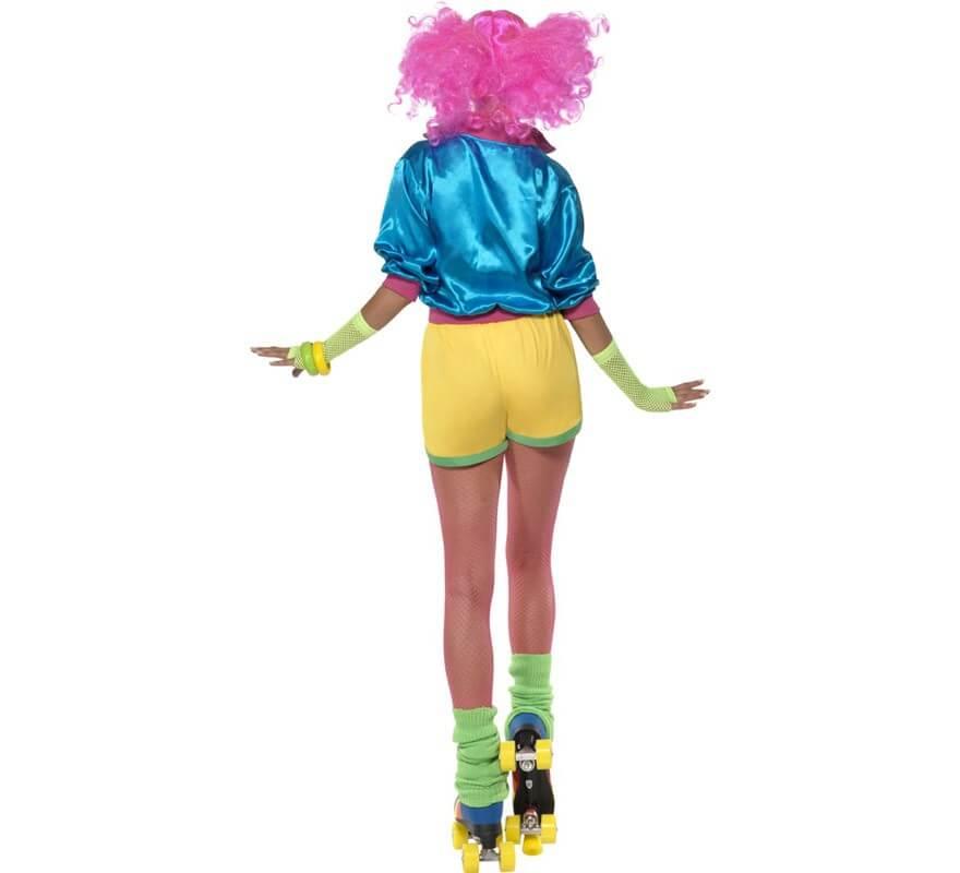 Disfraz de Patinadora de los años 80 para Mujer-B