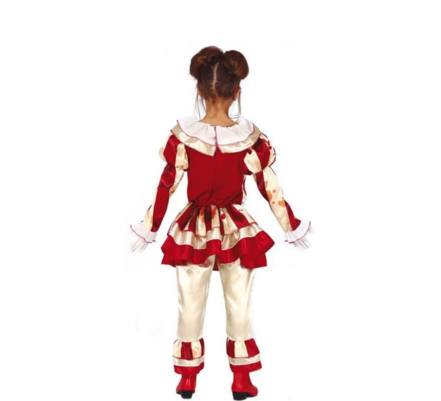 Disfraz de Payasa a Rayas para niña-B
