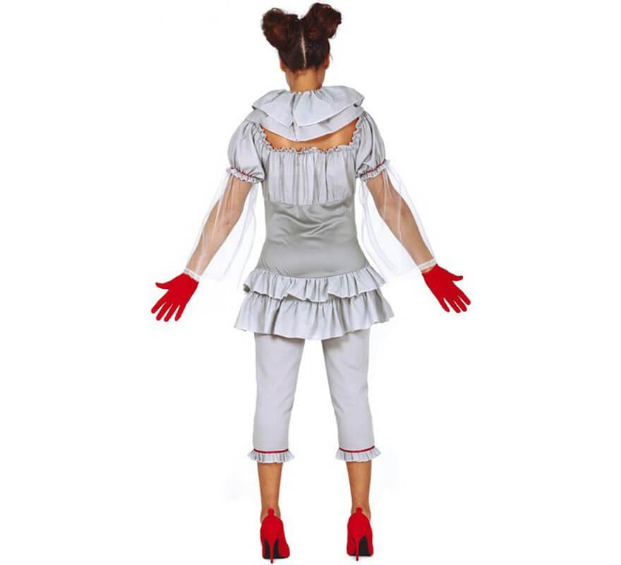 Disfraz de Payasa del miedo para mujer-B