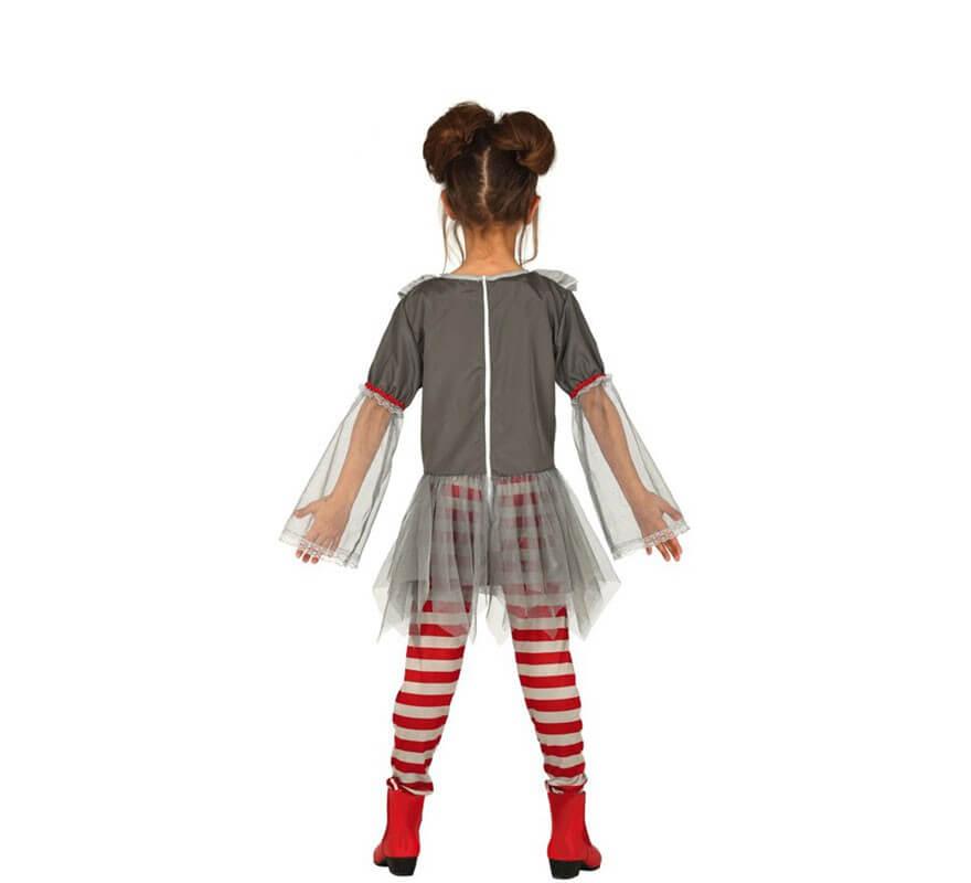 Disfraz de Payasa del Miedo para niña-B