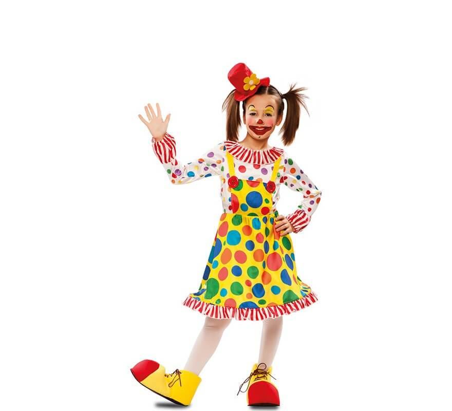 Disfraz de Payasita con Topos para niña-B