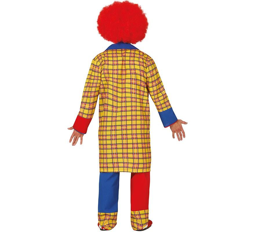 Disfraz de Payaso Rojo y Azul para hombre-B