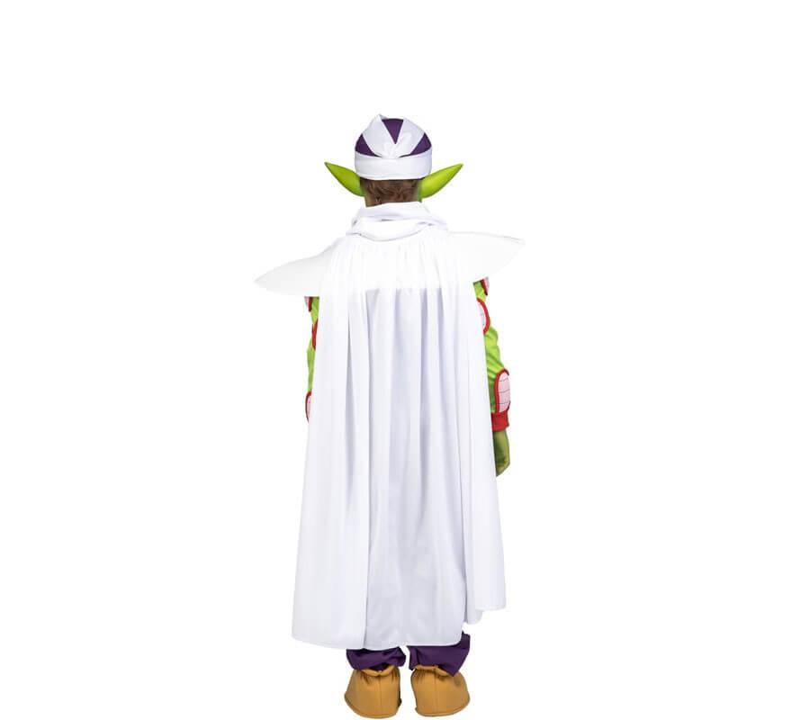 Disfraz de Piccolo de Dragon Ball con orejas y maquillaje para niño-B