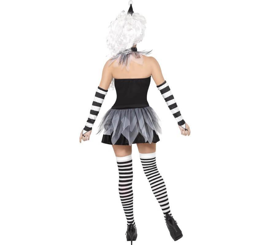 Disfraz de Pierrot Siniestro para Mujer-B