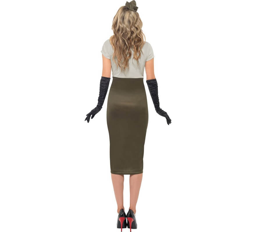 Disfraz de Pin Up Picante 2ª GM para Mujer-B