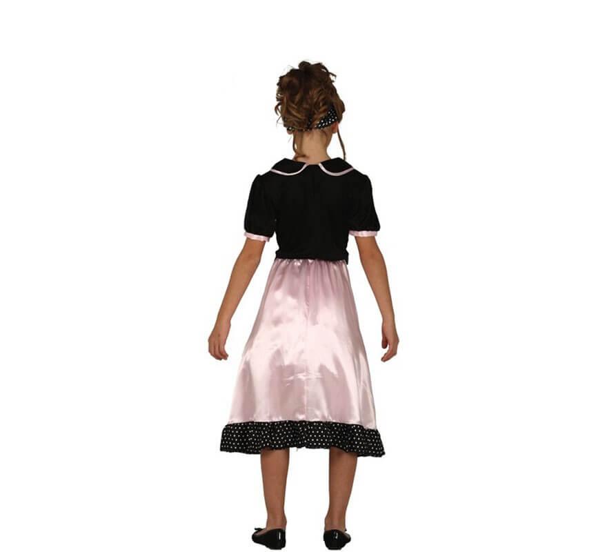 Disfraz de Pin Up Rosa para niña-B