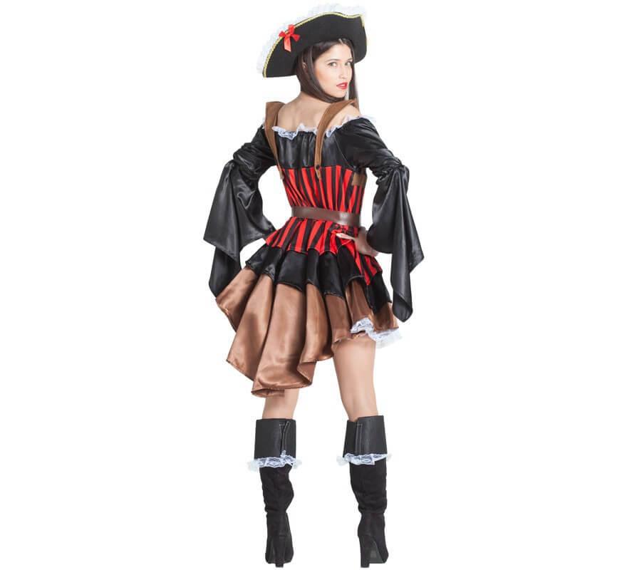 Disfraz de Pirata con Volantes para mujer-B