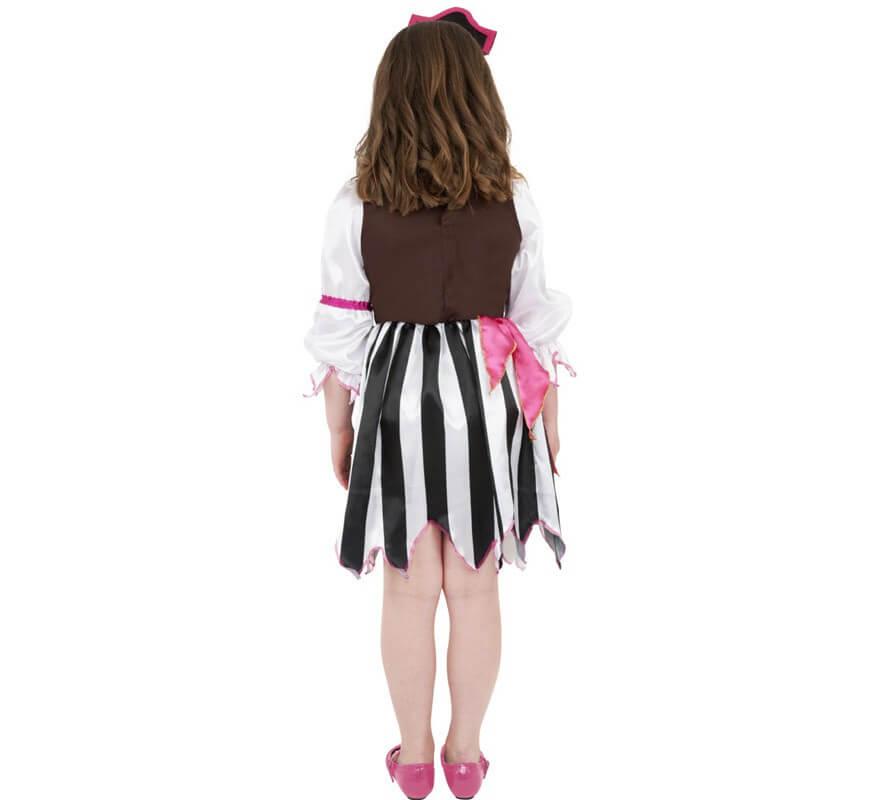 Disfraz de Pirata rosa para Niña-B