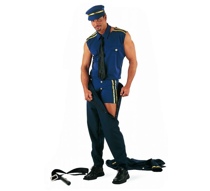 Disfraz de Policía Sexy para hombre-B
