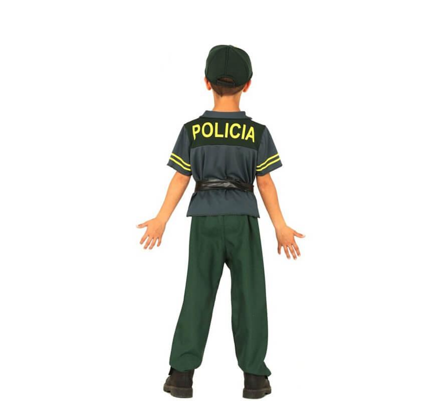 Disfraz de Policía Verde para niños-B