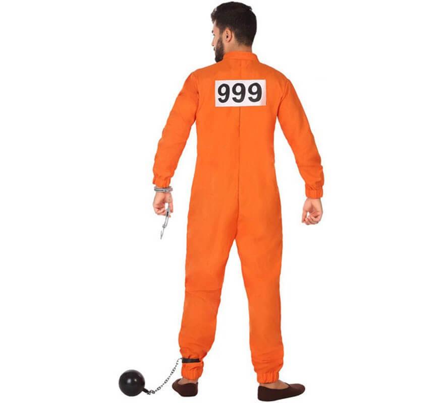Disfraz de Preso Naranja para hombre-B