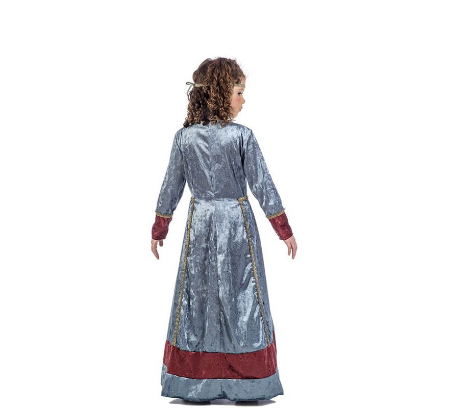 Disfraz de Princesa Medieval Jimena para niña-B