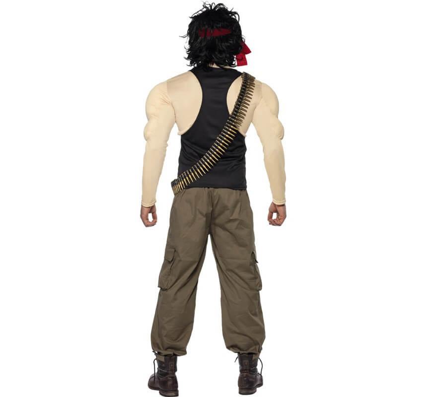 Disfraz de Rambo musculoso para hombre talla M-B