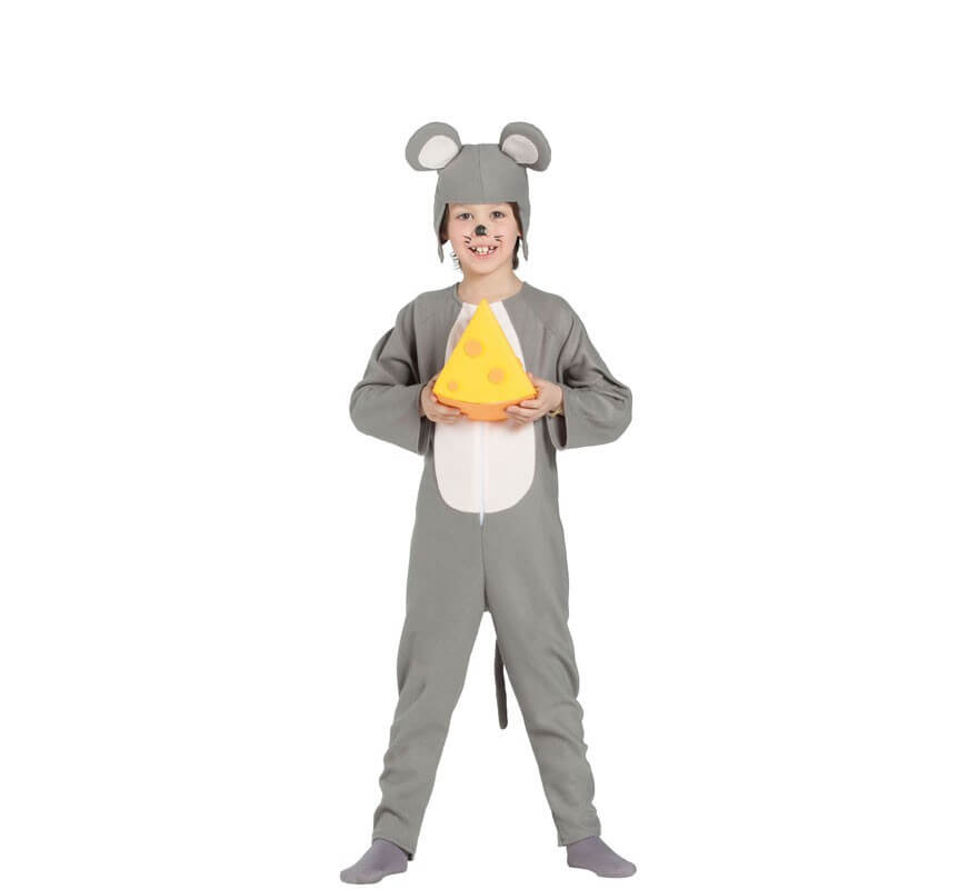 Disfraz de Ratón Gris para niños-B