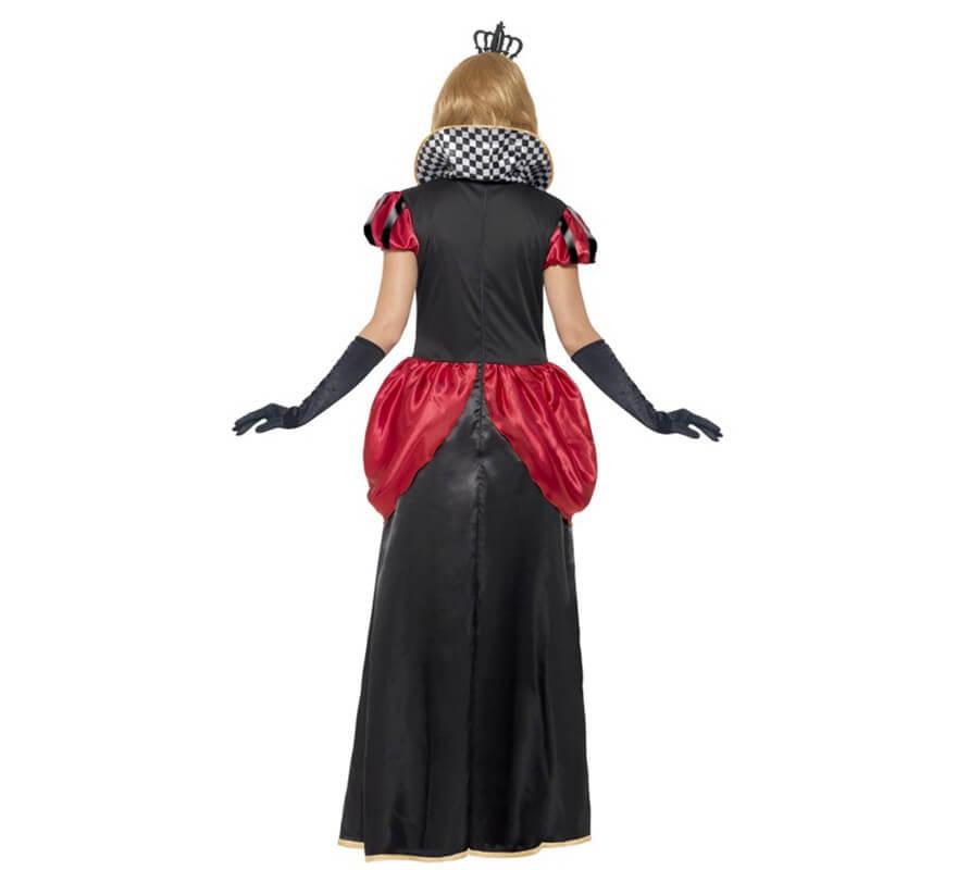 Lungo costume da regina di cuori per una donna-B