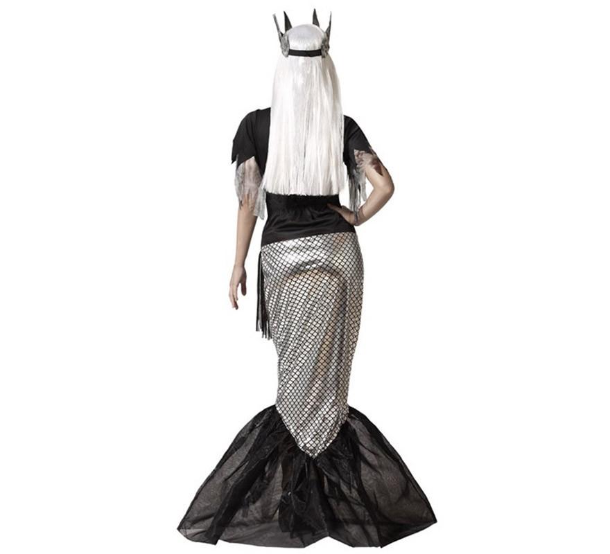 Disfraz de Reina Sirena Cadáver negra para mujer-B
