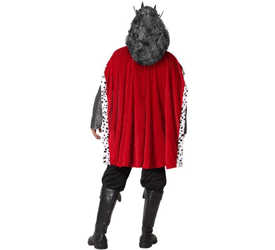 costume roi pour les hommes gris médiéval-B